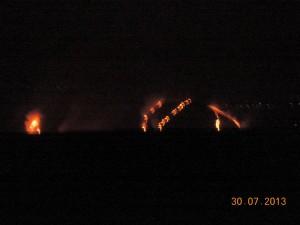 Incendio a Lipari